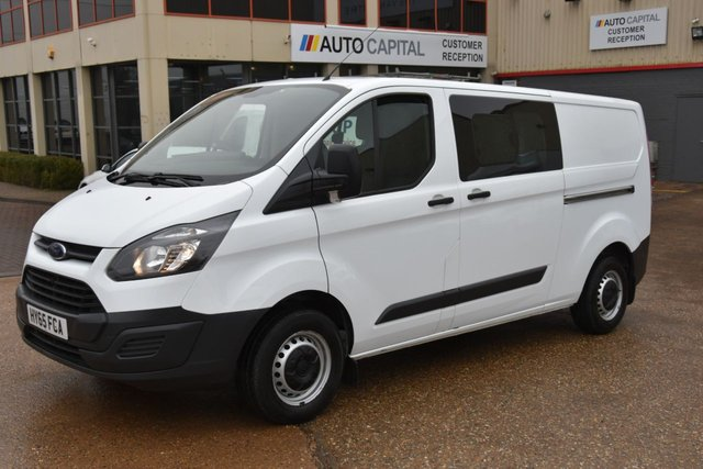 2015 65 FORD TRANSIT CUSTOM 2.2 290 LR DCB 5d 124 BHP 6SEAT COMBI VAN ONE OWNER FROM NEW