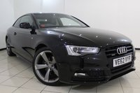 USED 2013 62 AUDI A5 2.0 TFSI QUATTRO S LINE BLACK EDITION 2DR 211 BHP AUDI SERVICE HISTORY + HEATED LEATHER SEATS + SAT NAVIGATION + PARKING SENSOR + BLUETOOTH + MULTI FUNCTION WHEEL + 19 INCH ALLOY WHEELS