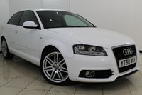 USED 2010 60 AUDI A3 2.0 TDI S LINE 3DR 138 BHP SERVICE HISTORY + HALF LEATHER SEATS + MULTI FUNCTION WHEEL + CLIMATE CONTROL + AUXILIARY PORT + RADIO/CD + 18 INCH ALLOY WHEELS