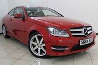 USED 2014 64 MERCEDES-BENZ C CLASS 2.1 C220 CDI AMG SPORT EDITION 2DR AUTOMATIC 168 BHP FULL MERCEDES SERVICE HISTORY + HALF LEATHER SEATS + SAT NAVIGATION + PARKING SENSOR + BLUETOOTH + CRUISE CONTROL + MULTI FUNCTION WHEEL + CLIMATE CONTROL + 18 INCH ALLOY WHEELS