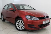 USED 2013 13 VOLKSWAGEN GOLF 1.4 SE TSI BLUEMOTION TECHNOLOGY 5DR 120 BHP FULL SERVICE HISTORY + CLIMATE CONTROL + CRUISE CONTROL + MULTI FUNCTION WHEEL + ELECTRIC WINDOWS + 16 INCH ALLOY WHEELS