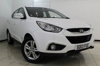 USED 2013 13 HYUNDAI IX35 1.6 STYLE GDI 5DR 133 BHP HYUNDAI SERVICE HISTORY + HEATED LEATHER SEATS + PARKING SENSOR + MULTI FUNCTION WHEEL + AUXILIARY PORT + AIR CONDITIONING + 17 INCH ALLOY WHEELS