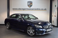 USED 2014 64 MERCEDES-BENZ C CLASS 2.1 C220 BLUETEC AMG LINE 4DR AUTO 170 BHP + FULL GREY LEATHER INTERIOR + 1 OWNER FROM NEW + SATELLITE NAVIGATION + BLUETOOTH + REVERSE CAMERA + CRUISE CONTROL + RAIN SNEOSRS + PARKING SENSORS + 18 INCH ALLOY WHEELS +