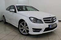 USED 2013 13 MERCEDES-BENZ C CLASS 1.6 C180 BLUEEFFICIENCY AMG SPORT 2DR AUTOMATIC 154 BHP FULL MERCEDES SERVICE HISTORY + HEATED LEATHER SEATS + BLUETOOTH + PARKING SENSOR + CRUISE CONTROL + MULTI FUNCTION WHEEL + CLIMATE CONTROL + 18 INCH ALLOY WHEELS