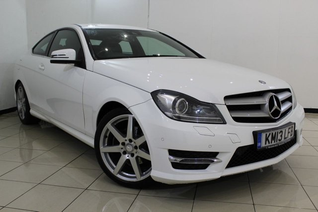 View our 2013 13 MERCEDES-BENZ C CLASS 1.6 C180 BLUEEFFICIENCY AMG SPORT 2DR AUTOMATIC 154 BHP