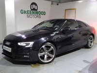 USED 2014 64 AUDI A5 2.0 TDI Black Edition Coupe S Tronic Quattro 2dr
