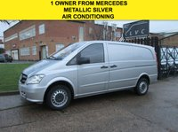 USED 2013 63 MERCEDES-BENZ VITO 2.1 113CDI LONG LWB 136BHP. MET SILVER. AIRCON. LOW 88K. FMBSH 1 OWNER. LOW RATE FINANCE. PX WELCOME
