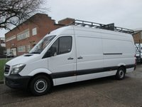 USED 2014 64 MERCEDES-BENZ SPRINTER 2.1 313CDI LWB HIGH ROOF NEW SHAPE 129BHP. ROOF-RACK. FMBSH. 1 OWNER. 106K. LOW RATE FINANCE. WARRANTY. PX