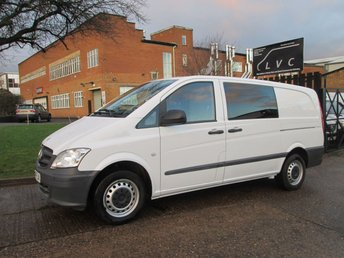 2014 MERCEDES-BENZ VITO 2.1 113CDI DUALINER LONG 136BHP. 4 LEATHER SEATS CREW. 2015 MODEL £8990.00