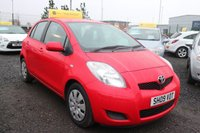 USED 2009 09 TOYOTA YARIS 1.3 TR VVT-I 5d 99 BHP LOW DEPOSIT OR NO DEPOSIT FINANCE AVAILABLE.