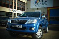 USED 2016 65 TOYOTA HI-LUX 3.0 INVINCIBLE 4X4 D-4D DCB 5d AUTO 169 BHP A/C NAVI R.CAM LEATHER SEAT ONE OWNER FROM NEW