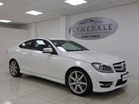 USED 2013 13 MERCEDES-BENZ C CLASS 2.1 C220 CDI BLUEEFFICIENCY AMG SPORT 2d AUTO 170 BHP Stunning, Full Dealer History, Sat Nav, DVD, Leather