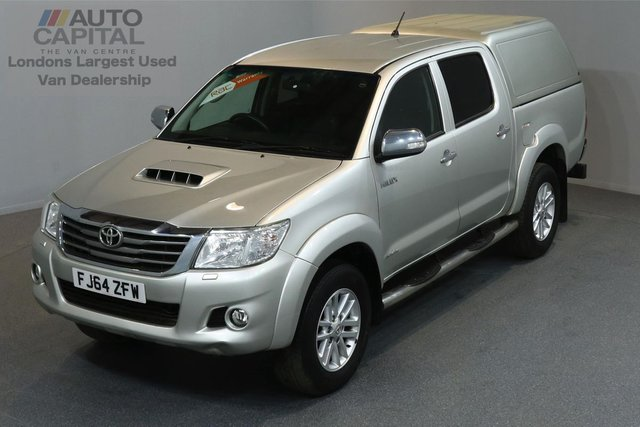 2014 64 TOYOTA HI-LUX 3.0 INVINCIBLE 4X4 D-4D DCB 5d AUTO 169 BHP A/C NAVI R.CAM LEATHER SEAT ONE OWNER FROM NEW