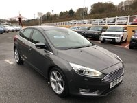 USED 2015 15 FORD FOCUS 2.0 TITANIUM X TDCI 5d 148 BHP Black leather, Sat Nav, DAB, SYNC Media, Bluetooth, camera & more. Auto Diesel
