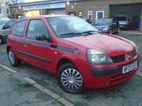 USED 2003 03 RENAULT CLIO 1.1 AUTHENTIQUE 8V 3d 58 BHP CHEAP TO RUN+NEW MOT ON SALE