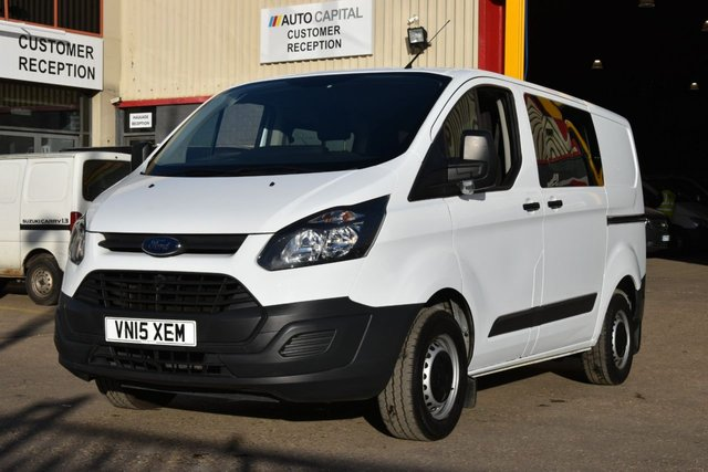 2015 15 FORD TRANSIT CUSTOM 2.2 290 LR DCB 5d 99 BHP LR SWB BLUETOOTH AUX USB COMBI VAN ONE OWNER FROM NEW