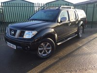 USED 2009 09 NISSAN NAVARA 2.5 DCI PLATINUM 4X4 SHR DCB 1d 169 BHP CANOPY LEATHER NO FINANCE REPAYMENTS FOR 2 MONTHS STC. (COMMERCIAL 6900 + 1380VAT).  4WD. REAR CANOPY. STUNNING BLACK MET WITH FULL BLACK LEATHER TRIM. ELECTRIC HEATED SEATS, CRUISE CONTROL. AIR CON. SUNROOF. SIDE STEPS. 17 INCH ALLOYS. COLOUR CODED TRIMS. PRIVACY GLASS. BLUETOOTH PREP. CARGO LINING. ROOF RAILS. PAS. R/CD PLAYER. 6 SPEED MANUAL. MFSW. TOWBAR. MOT 01/19. FCA FINANCE APPROVED DEALER. TEL 01937 849492