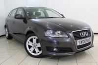 USED 2008 08 AUDI A3 1.9 TDI SPORT 105 5DR 103 BHP FULL SERVICE HISTORY + SAT NAVIGATION + MULTI FUNCTION WHEEL + CLIMATE CONTROL + 17 INCH ALLOY WHEELS