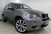 USED 2009 09 BMW X5 3.0 D M SPORT 5DR AUTOMATIC 232 BHP HEATED NAPPA LEATHER SEATS + SAT NAVIGATION PROFESSIONAL + REVERSE CAMERA + BLUETOOTH + CRUISE CONTROL + MULTI FUNCTION WHEEL + 19 INCH ALLOY WHEELS