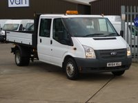 2014 FORD TRANSIT 2.2TDCi T350 Double Cab Tipper 125 BHP £13495.00