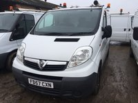USED 2007 57 VAUXHALL VIVARO 2.0 2900CDTI SWB SHR 1d 90 BHP N/S O/S DOORS ONE OWNER NO FINANCE REPAYMENTS FOR 2 MONTHS STC. (COMMERCIAL £5900+1180VAT). WHITE WITH GREY CLOTH TRIM. 2 SEATER. BULKHEAD. CARGO LINING. N/S LOADING DOOR. BLUETOOTH PREP. AIR CON. R/CD PLAYER. MOT 01/19. ONE OWNER FROM NEW. FCA FINANCE APPROVED DEALER. TEL 01937 849492.