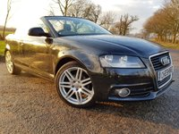 USED 2009 09 AUDI A3 CABRIOLET 2.0 TDI S LINE 2d 140 BHP HALF LEATHER & EXTRAS