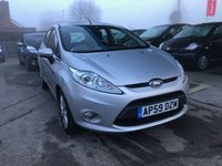 USED 2010 59 FORD FIESTA 1.4 ZETEC 16V 5d 96 BHP NEED FINANCE? WE STRIVE FOR 94% ACCEPTANCE