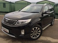 USED 2014 64 KIA SORENTO 2.2 CRDI KX-4 5d AUTO 194 BHP SAT NAV PAN ROOF LEATHER SIDE STEPS ONE OWNER NO FINANCE REPAYMENTS FOR 2 MONTHS STC. 4WD. FACELIFT. 7 SEATER. PANORAMIC SUNROOF. SATELLITE NAVIGATION. SIDE STEPS. STUNNING BLACK MET WITH FULL BLACK LEATHER TRIM. ELECTRIC MEMORY HEATED SEATS. CRUISE CONTROL. 19 INCH ALLOYS. COLOUR CODED TRIMS. PRIVACY GLASS. PARKING SENSORS. REVERSING CAMERA. BLUETOOTH PREP. CLIMATE CONTROL. MONITOR. TRIP COMPUTER. R/CD PLAYER. MFSW. ROOF BARS. MOT 01/19. ONE OWNER FROM NEW. SERVICE HISTORY. FCA FINANCE APPROVED DEALER. TEL 01937 849492