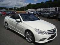 USED 2011 61 MERCEDES-BENZ E CLASS 1.8 E200 CGI BLUEEFFICIENCY SPORT 2d 184 BHP White, Black leather, COMAND Sat Nav, heated seats, AMG Pack