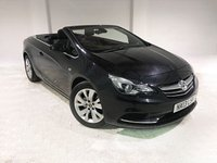 USED 2013 13 VAUXHALL CASCADA 1.4T SE S/S 2d 140 BHP ONE OWNER FROM NEW WITH FULL SERVICE HISTORY+ NATIONWIDE WARRANTY
