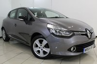 USED 2014 64 RENAULT CLIO 1.5 DYNAMIQUE MEDIANAV ENERGY DCI S/S 5DR 90 BHP FULL SERVICE HISTORY + SAT NAVIGATION + BLUETOOTH + CRUISE CONTROL + MULTI FUNCTION WHEEL + 16 INCH ALLOY WHEELS
