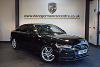 USED 2015 15 AUDI A6 2.0 TDI ULTRA S LINE 4DR AUTO 188 BHP + FULL BLACK LEATHER INTERIOR + FULL AUDI SERVICE HISTORY + 1 OWNER FROM NEW + SATELLITE NAVIGATION + BLUETOOTH + SPORT SEATS + DAB RADIO + CLIMATE CONTROL + RAIN SENSORS + CRUISE CONTROL + PARKING SENSORS + 18 INCH ALLOY WHEELS +