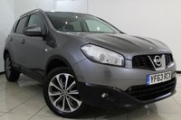 USED 2013 63 NISSAN QASHQAI 2.0 DCI TEKNA 5DR AUTOMATIC 148 BHP SERVICE HISTORY + HEATED LEATHER SEATS + SAT NAVIGATION + REVERSE CAMERA + PANORAMIC ROOF + BLUETOOTH + CRUISE CONTROL + MULTI FUNCTION WHEEL + 18 INCH ALLOY WHEELS