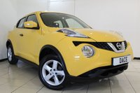 USED 2014 64 NISSAN JUKE 1.6 VISIA 5DR 94 BHP FULL NISSAN SERVICE HISTORY + AIR CONDITIONING + RADIO/CD + ELECTRIC WINDOWS + ELECTRIC MIRRORS + 16 INCH ALLOY WHEELS