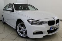 USED 2014 64 BMW 3 SERIES 2.0 318D M SPORT TOURING 5DR AUTOMATIC 141 BHP FULL BMW SERVICE HISTORY + LEATHER SEATS + CRUISE CONTROL + PARKING SENSOR + BLUETOOTH + CLIMATE CONTROL + MULTI FUNCTION WHEEL + 18 INCH ALLOY WHEELS