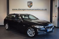 USED 2014 64 BMW 5 SERIES 2.0 520D SE TOURING 5DR AUTO 188 BHP + FULL LEATHER INTERIOR + 1 OWNER FROM NEW + SATELLITE NAVIGATION + BLUETOOTH + CRUISE CONTROL + RAIN SNESORS + PARKING SENSORS + 17 INCH ALLOY WHEELS +