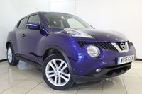 USED 2015 15 NISSAN JUKE 1.2 ACENTA PREMIUM DIG-T 5DR 115 BHP FULL SERVICE HISTORY + REVERSE CAMERA + BLUETOOTH + CRUISE CONTROL + CLIMATE CONTROL + MULTI FUNCTION WHEEL + RADIO/CD + 17 INCH ALLOY WHEELS