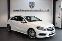 USED 2014 64 MERCEDES-BENZ A CLASS 1.5 A180 CDI BLUEEFFICIENCY AMG SPORT 5DR 109 BHP + HALF BLACK LEATHER INTERIOR + FULL MERC SERVICE HISTORY + 1 OWNER FROM NEW + BLUETOOTH + SPORT SEATS + DAB RADIO + RAIN SENSORS + 18 INCH ALLOY WHEELS +
