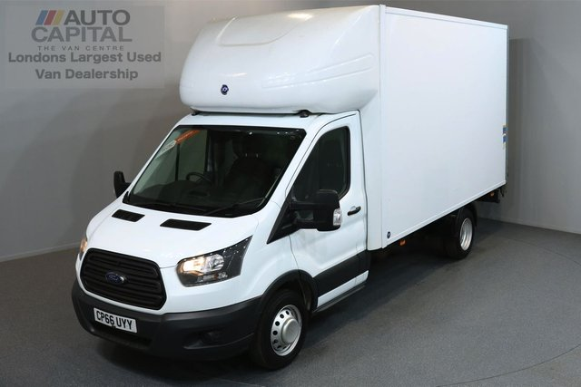 2017 66 FORD TRANSIT 2.0 350 L4 C/C3d 168 BHP LWB RWD LUTON VAN EURO 6 ENGINE ONE OWNER FROM NEW