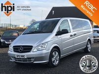 2012 MERCEDES-BENZ VITO 2.1 113 CDI XLWB TRAVELINER 9 SEATER BLUEEFFICIENCY EXTRA LONG AC £11990.00