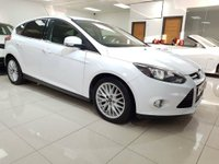 USED 2012 62 FORD FOCUS 1.6 TDCi Zetec 5dr SAT NAV+BLUETOOTH+8 SERVICES