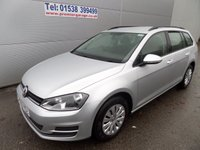 2013 VOLKSWAGEN GOLF 1.6 S TDI BLUEMOTION TECHNOLOGY ESTATE 1 OWNER FSH £6995.00