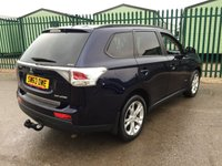USED 2013 63 MITSUBISHI OUTLANDER 2.3 DI-D GX 3 5d 147 BHP 7 SEATER LEATHER PRIVACY ONE OWNER FSH NO FINANCE REPAYMENTS FOR 2 MONTHS STC. 4WD. 7 SEATER. STUNNING BLUE MET WITH FULL BLACK LEATHER TRIM. CRUISE CONTROL. 18 INCH ALLOYS. COLOUR CODED TRIMS. PRIVACY GLASS. PARKING SENSORS. BLUETOOTH PREP. AIR CON. R/CD PLAYER. 6 SPEED MANUAL. MFSW. TOWBAR. MOT 01/19. ONE OWNER. FULL SERVICE HISTORY. FCA FINANCE APPROVED DEALER. TEL 01937 849492