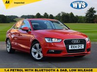 USED 2014 14 AUDI A3 1.4 TFSI SPORT 4d 139 BHP We are delighted to offer for sale this 2014 Audi A3 1.4TFSi 140 Sport 4dr saloon in Red with service history and just 29000 miles.
