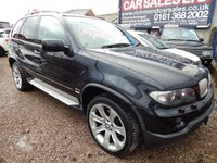 "USED 2006 56 BMW X5 3.0 D SPORT 5d AUTO 215 BHP COLOUR SCREEN SAT NAV, PANORAMIC SUNROOF, 20"" ALLOY WHEELS, F.S.H"