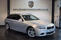 USED 2013 62 BMW 5 SERIES 2.0 520D M SPORT TOURING 5DR AUTO 181 BHP + FULL BLACK LEATHER INTERIOR + EXCELLENT SERVICE HISTORY + PRO SATELLITE NAVIGATION + BLUETOOTH + HEATED SPORT SEATS + DAB RADIO + CRUISE CONTROL + PARKING SENSORS + 19 INCH ALLOY WHEELS +