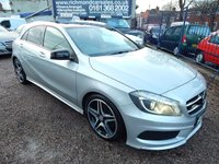 "USED 2014 63 MERCEDES-BENZ A CLASS 1.8 A200 CDI BLUEEFFICIENCY AMG SPORT 5d AUTO 136 BHP PANORAMIC SUNROOF, LIGHT PACK, F.S.H, 18"" ALLOY WHEELS,"