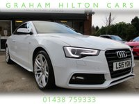 "USED 2015 15 AUDI A5 2.0 TDI S LINE S/S 2d AUTO 177 BHP ONE LADY OWNER,19"" ALLOY WHEELS SAT NAV FULL LEATHER INTERIOR FULL SERVICE HISTORY NEW MOT FRONT AND REAR PARK DISTANCE"