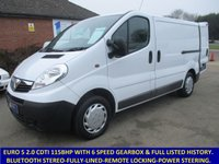 2013 VAUXHALL VIVARO 2700 SWB 115BHP EURO 5 WITH BLUETOOTH & FULL HISTORY £6295.00