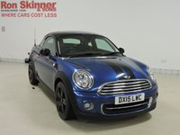 USED 2015 15 MINI COUPE 1.6 COOPER 2d 120 BHP with CHILI Pack + 17in Alloys
